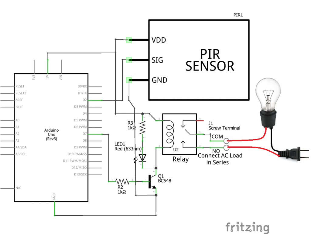 Wiring diagram for a pir light switch fan