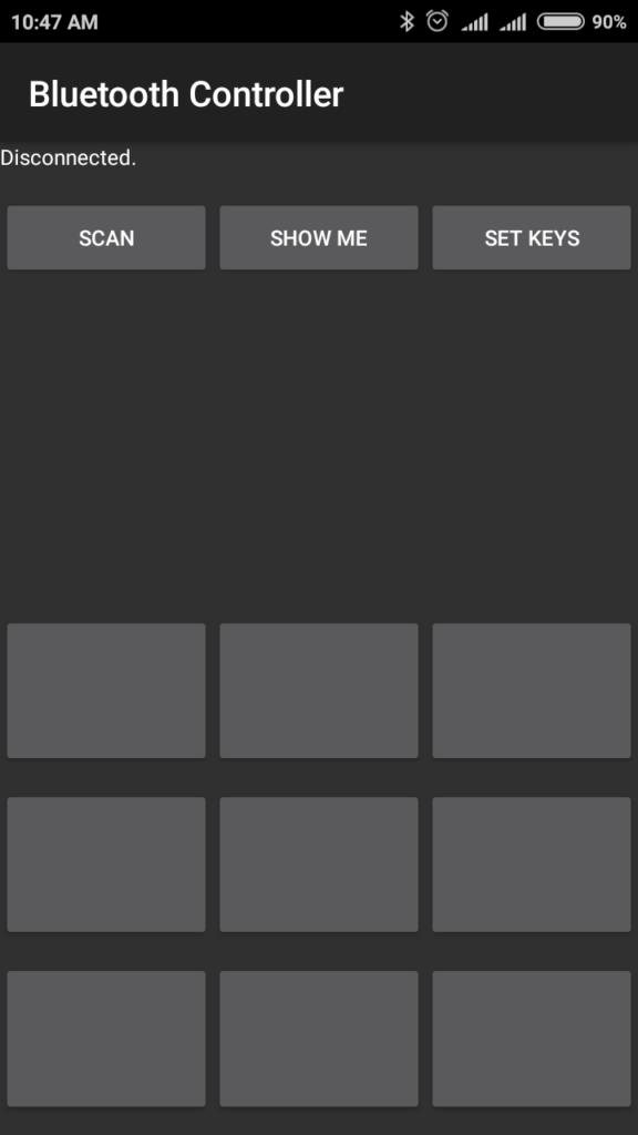 Arduino Bluetooth Controller App